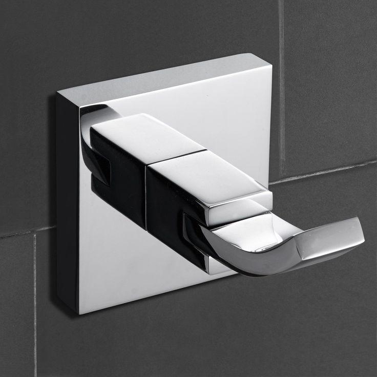 Chrome Brass Wall Mounted Robe Hooks Bathroom / Hotel Towel Shelf Hooks Hanger