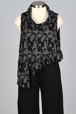 #Farbbberatung #Stilberatung #Farbenreich mit www.farben-reich.com Avivit Yizhar - Mona Vest - Black Evening