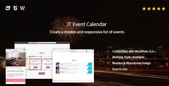 JT Event Calendar by JSquareThemes on CodeCanyon