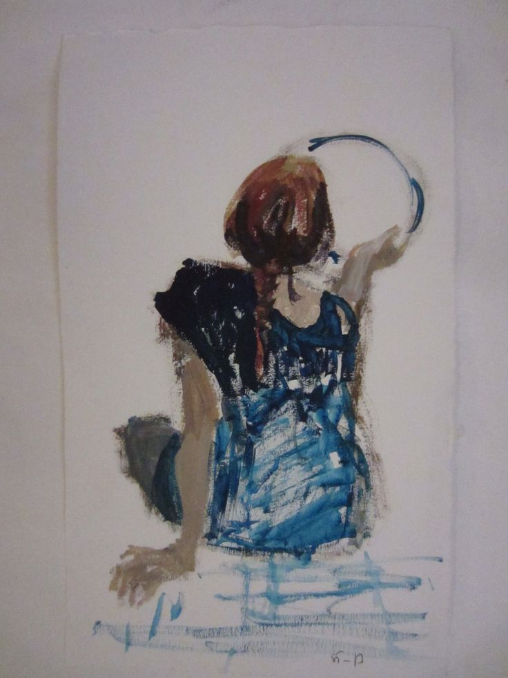 Girl with a mirror, oil study by STarnanen 2013