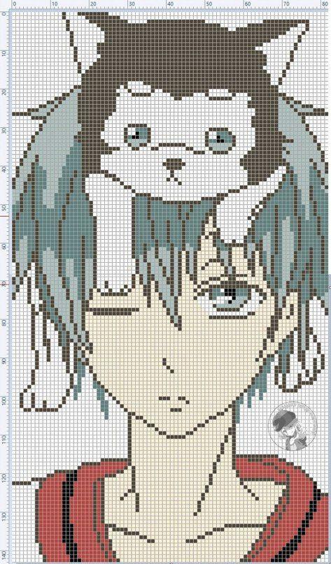 Картинки вышивки крестиком аниме