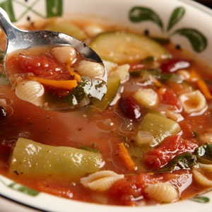 Olive Garden's Minestrone soup is still one of my favorites! Winter, summer, lunch, dinner...Good anytime!