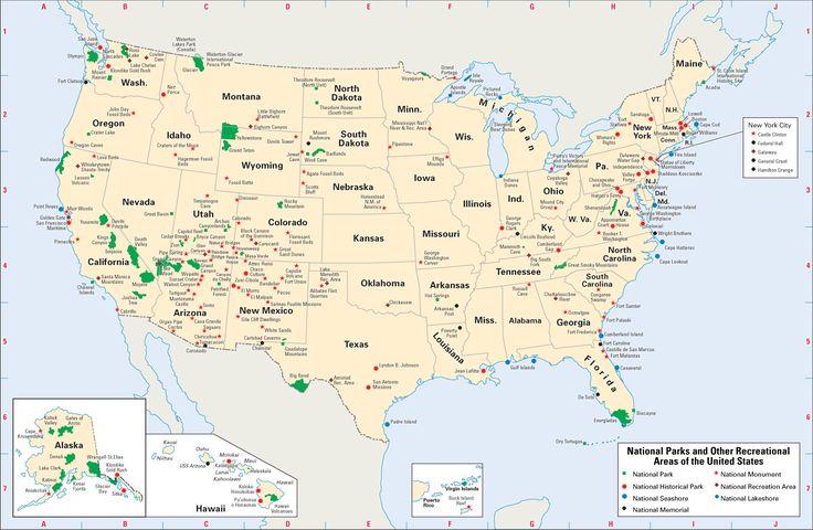 map of US national parks | national parks