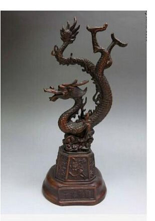 Copper Brass CHINESE crafts decor ation Asian de bronze Pure Bronze Antigo Delicado animal Cobre Esculpido lifelike Auspicioso
