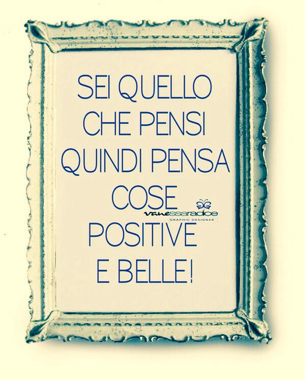 You are what you think ... so think positive and beautiful things... That is how others will see you then. Positive!