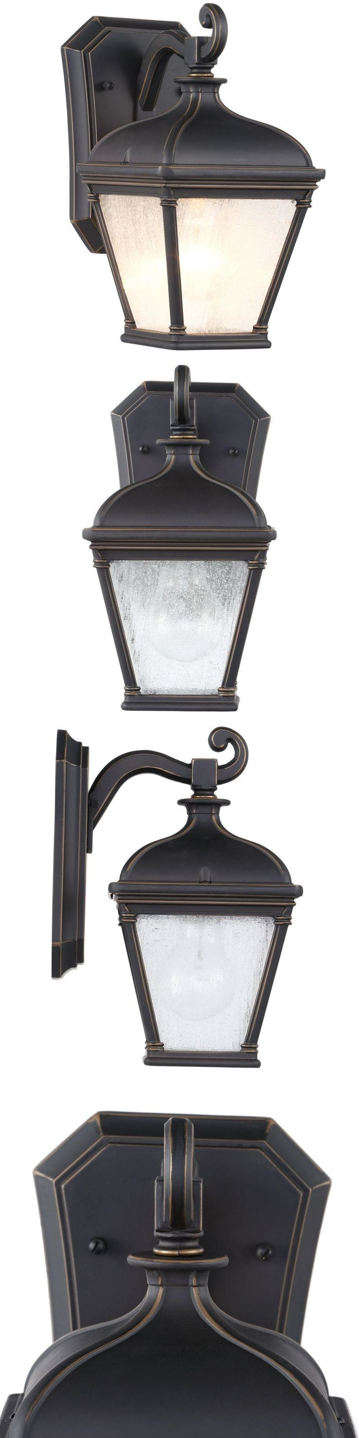 Outdoor Wall and Porch Lights 94939: Hampton Bay 23081 Malford Wall-Mount Outdoor Dark Rubbed Bronze Lantern -> BUY IT NOW ONLY: $69.99 on eBay!