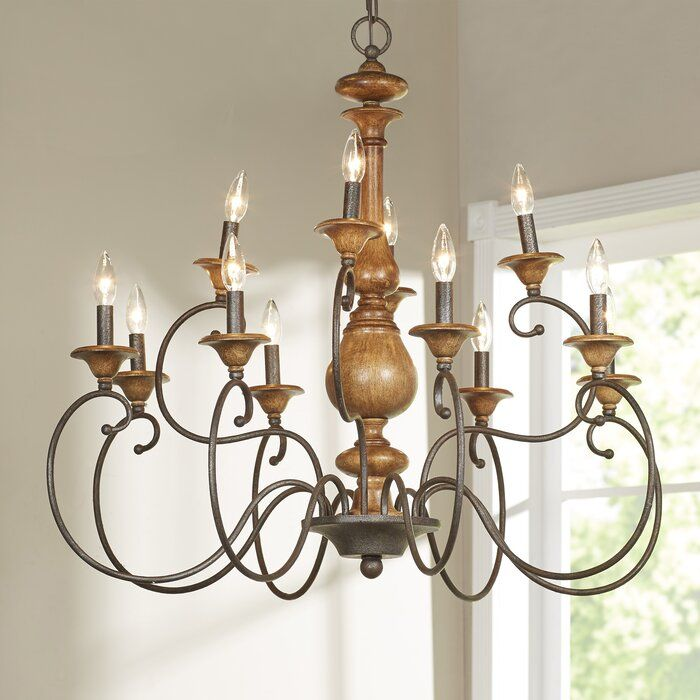 Turcot 12 Light Candle Style Tiered Chandelier Reviews Birch Lane Country Chandelier Candle Style Chandelier French Country Chandelier