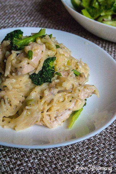 Паста с курицей, брокколи и сырным соусом | Про рецептики - лучшие кулинарные рецепты для Вас!