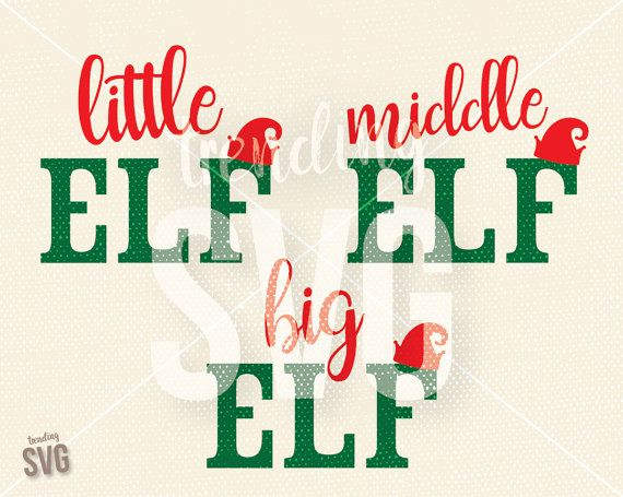 Little Middle Big Elf Hat, SVG Cutting File, Christmas Sibling Shirt Cricut Silhouette, Commercial Use, SVG PNG JPG DXF, Instant Download, Overlay, Must Be Italian Trending for mugs, shirts (graphic tees), vinyl, screenprinting, overlays, cards and more! WHAT'S INCLUDED