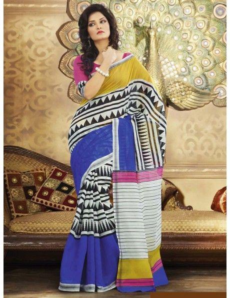 Buy Beauteous Festive Saree  http://www.bharatplaza.com/womens-wear/sarees.html