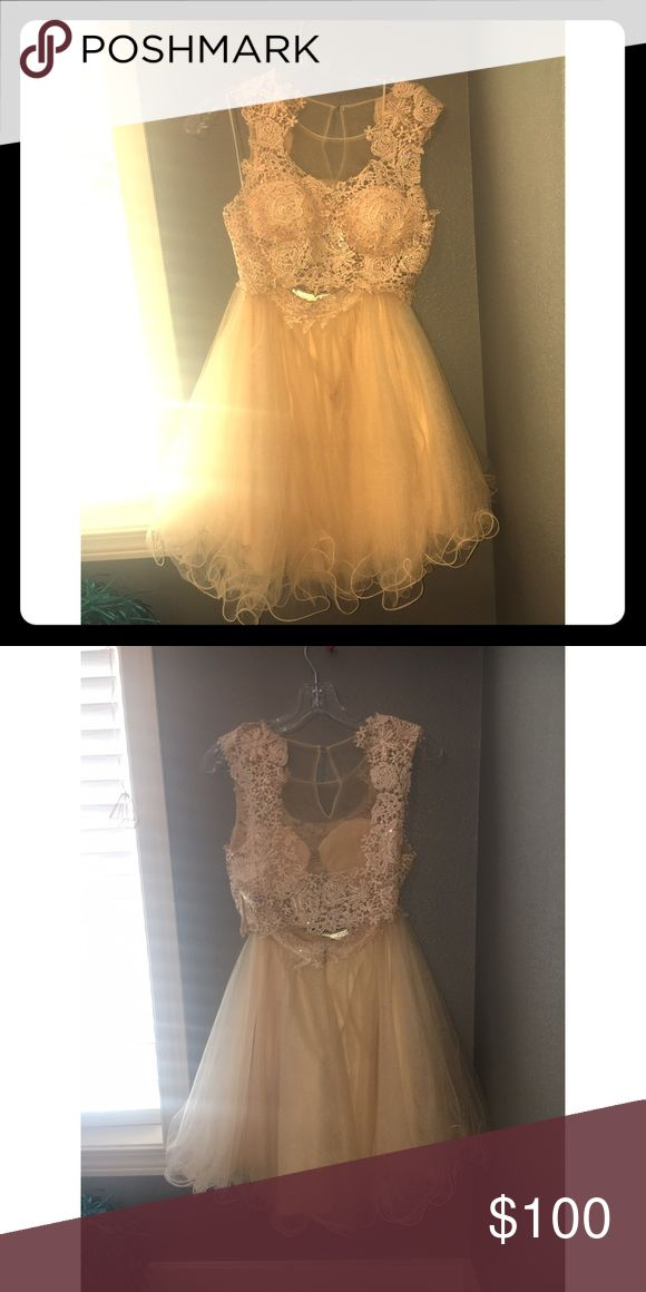 homecoming dress gold two piece homecoming dress, only worn once Dresses Prom