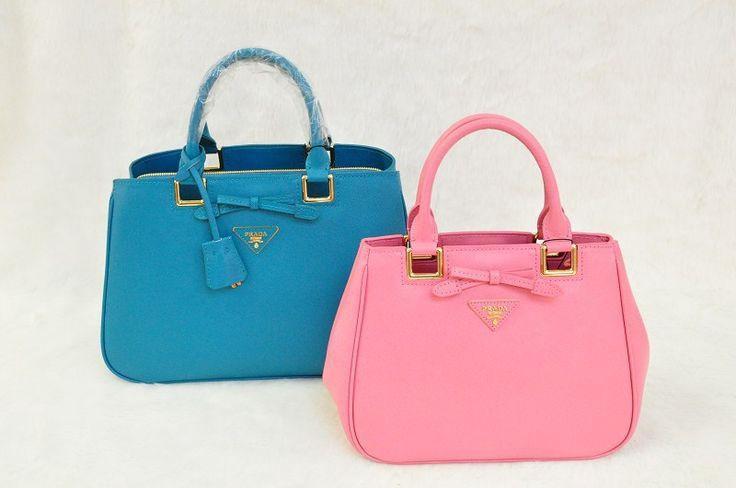Prada Saffiano Lux Tote Bag With Pink Epsom Leather BN2245/SYNNIJA  Size: W26XH20XD14CM