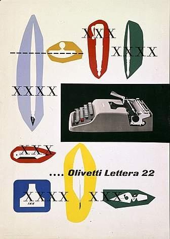 Olivetti Lettera 22 AD Designed by Giovanni Pintori, 1951