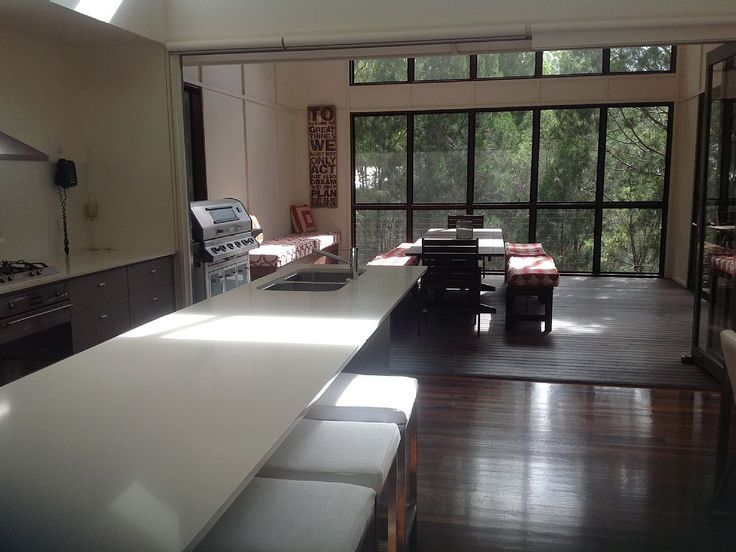 Noosa North Shore house rental - Kitchen/ Outdoor Entertainment Area