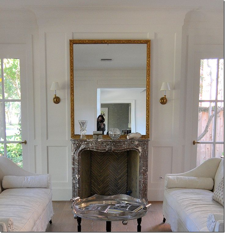 image: Design Inspiration, White Living Rooms, Fireplace Inspiration, White Firebox, Beautiful Firebox, Beautiful White, Family Room