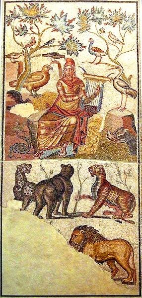 Roman Mosaic --  From The House Of Orpheus  --   Zaragoza (Caesaraugusta) Museum  --  Spain
