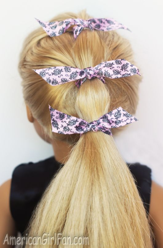 Doll Hairstyle: The Triple Ponytail!