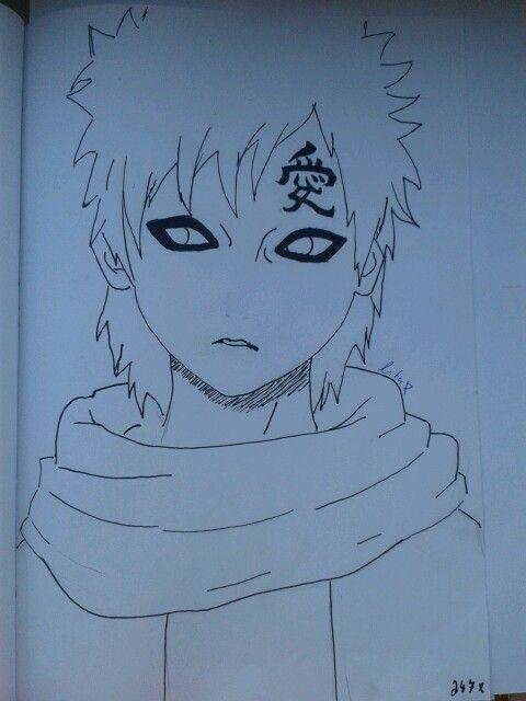 Gaara drawing :-) New Kazekage....