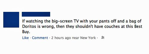 Things you can't do in Best Buy.    [via]: Funny Image, Funny Facebook, Buy, Funny Pictures, Giggl, Big Screens Tvs, Failbook Funny, Pop Culture Humor, Funniest Pictures