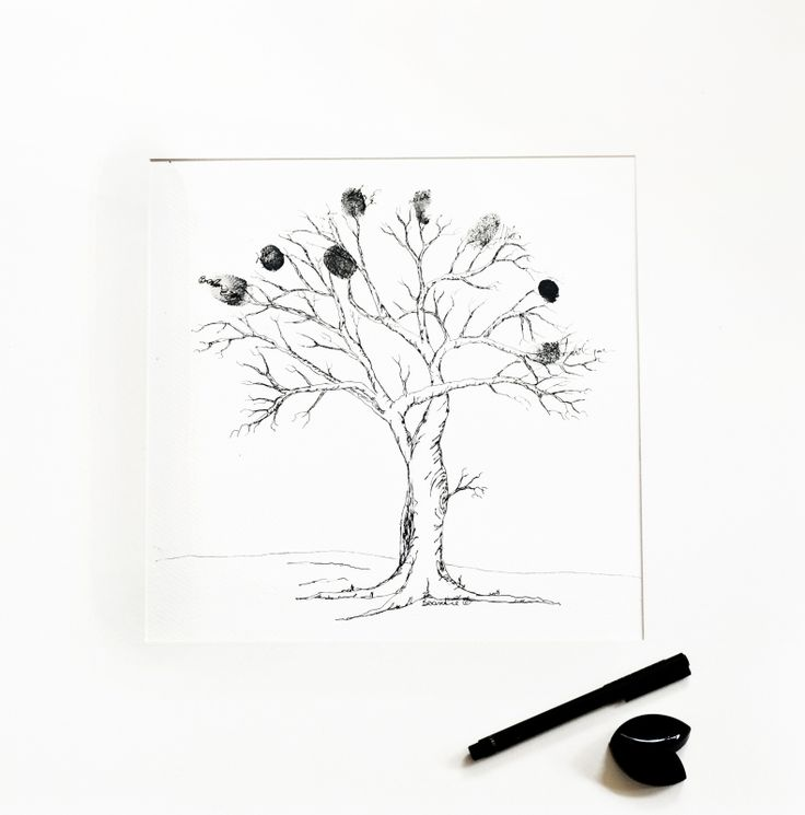 Artists own Family Tree showing finger prints