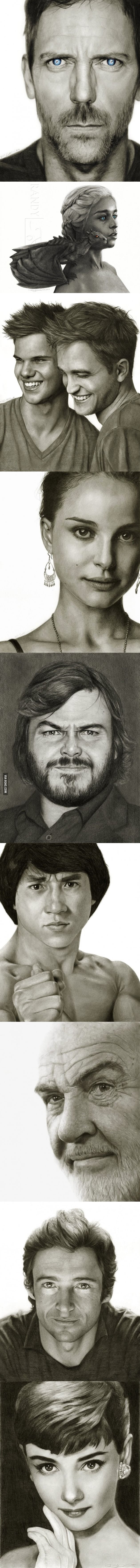 Impressive Pencil And Charcoal Celebrity Portraits That Look Real