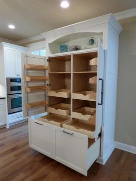Custom Built-In Pantry with Rollout Shelves - craftsman - Kitchen - Other Metro - Twickenham Homes & Remodeling | HOUSE IDEAS t | Custom Pantry, Craf…