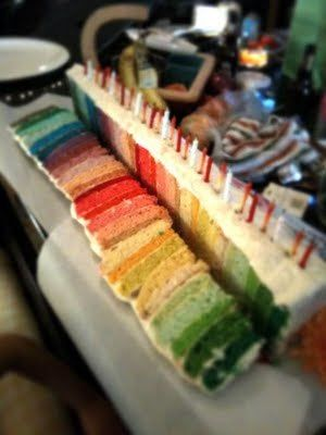 Rainbow.: Layered Cakes, Mmm Rainbows, Birthday Parties, Color, Rainbow Cakes, Rainbows Birthday Cakes, Rainbows Cakes, Rainbows Parties, Parties Ideas