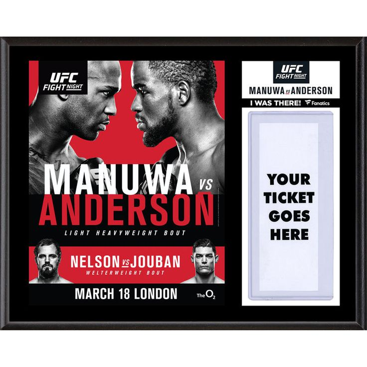 """Fanatics Authentic UFC Fight Night Jimi Manuwa vs. Corey Anderson Dueling """"I Was There"""" 12"""" x 15"""" Sublimated Plaque"""