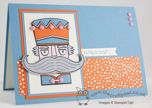 The Crafty Owl's Blog | Joanne James Independent Stampin' Up! Demonstrator -- joanne@thecraft... Santa 'Stache, Nutcracker, Christmas, paper piecing