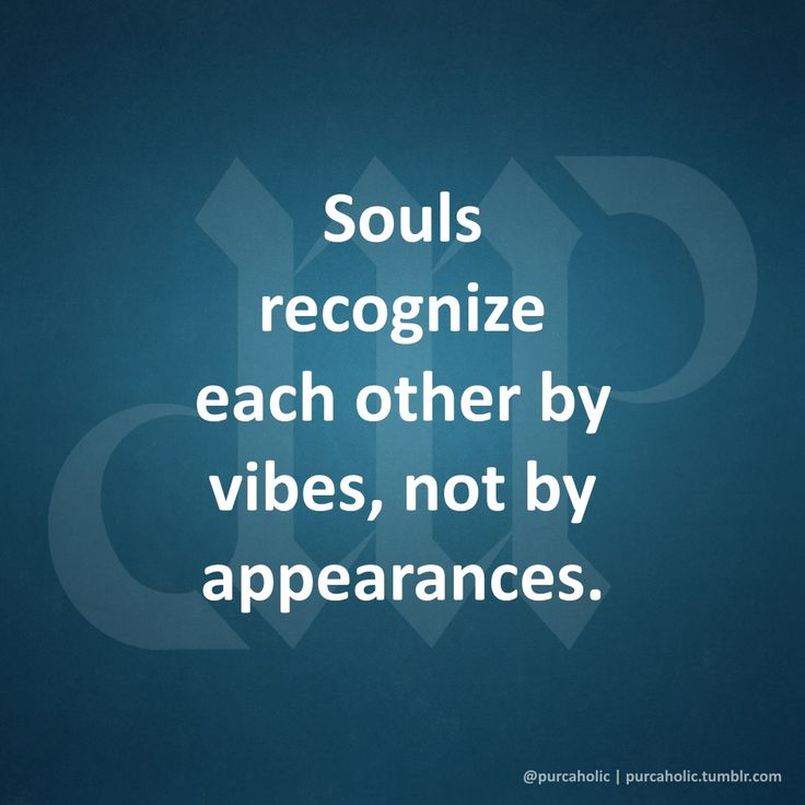 Love Each Other When Two Souls: Souls Recognize Each Other By Vibes, Not By Appearances