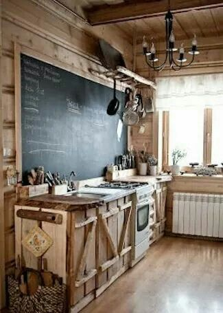 Would love this Kitchen...Would write all inspirational uplifting messages on chalkboard!!  Kitchens are a place for Love And Family!!!!
