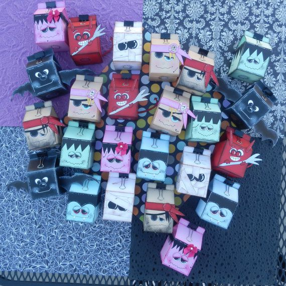 Halloween treat holders by TeriBears on Etsy, $85.00