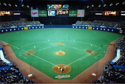 Olympic Stadium, Montreal 2001. Baseball should not be played in a dome.