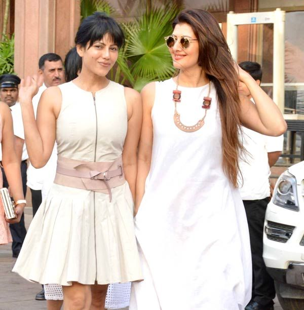 Wardha Nadiadwala and Sangeeta Bijlani at Arpita Khan Sharma's baby shower. #Bollywood #Fashion #Style #Beauty #Hot