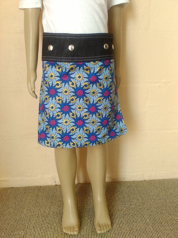 Reversible Girls Wrap Skirt by Climbinglily on Etsy