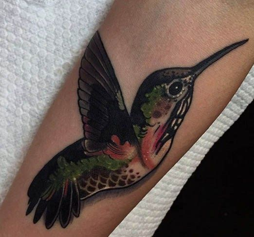 What could be more timeless than this tattoo by Aniela? #inked #hummingbird #bird #gorgeous #animal #tattoo #ink #idea