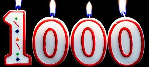 Thanks for 1000!!!!!!