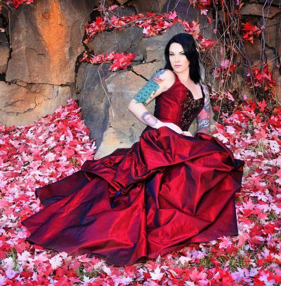 black friday-cyber monday wedding gown-Fairytale-snow white-red wedding dress-alternative-couture-custom denver-the secret boutique-fantasy