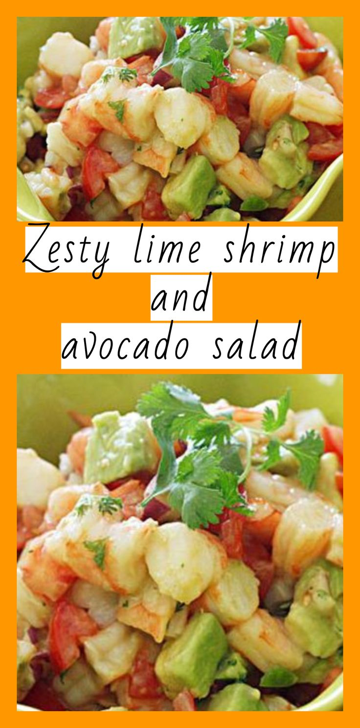 zesty lime shrimp and avocado salad – Weight watchers recipes