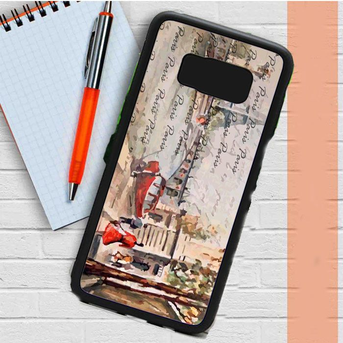 Old Paris Postcard With Eiffel Tower Samsung Galaxy S8 Plus Case Casefreed