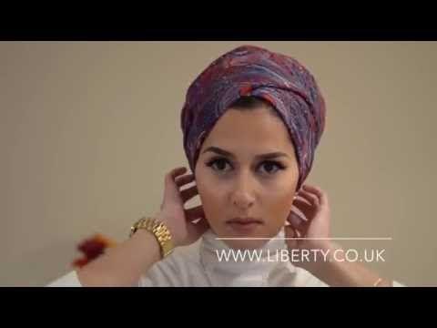 Как красиво завязать платок на голову (тюрбан-чалму) - YouTube