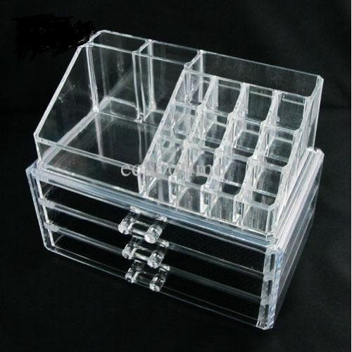 #applainces #Home-it Clear acrylic makeup organizer cosmetic organizer and Large 3 Drawer Jewerly Chest or makeup storage ideas Case Lipstick