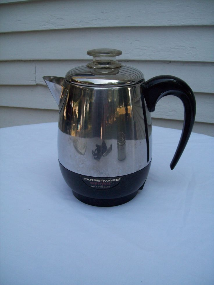 "This listing is for a 4 cup vintage stainless steel automatic ""super fast"" electric Farberware coffee maker- percolator."