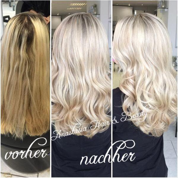 #vorher #nachher #blondhair #highlight #colowatchsystem #nofilter #newsha #blond #anastasiahairbeauty