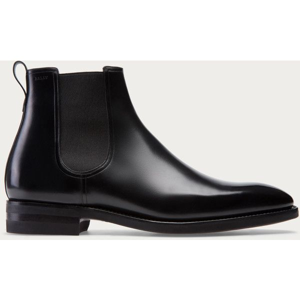 Bally SCAVONE Men's leather Chelsea boot in Black (8.110 NOK) ❤ liked on…