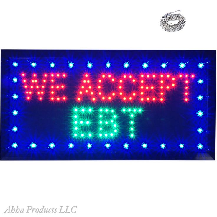 We Accept EBT Pay SNAP Food Stamps Debit Grocery Store LED Open Shop Sign neon…