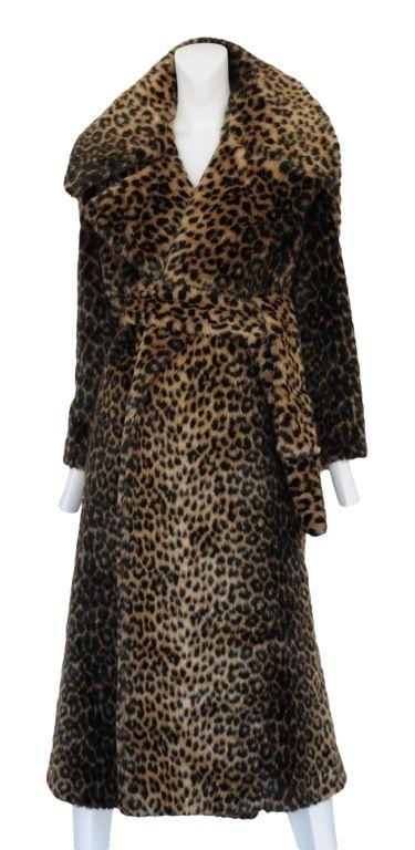 vintage alaia faux fur coat