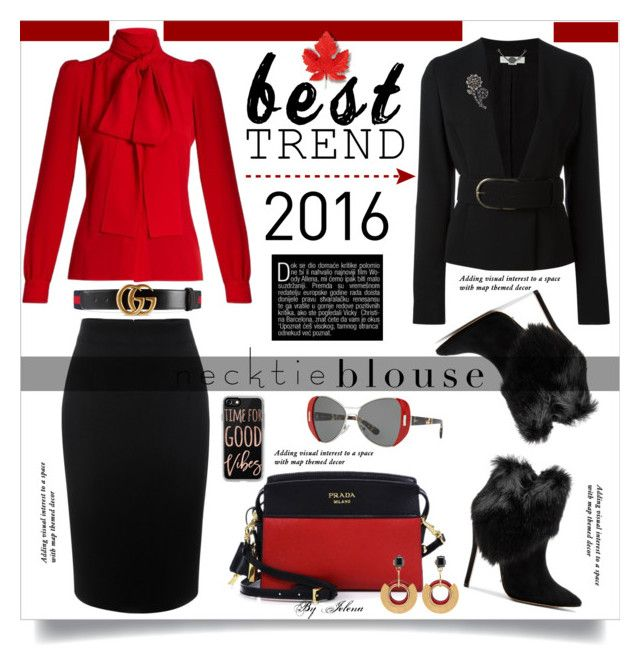 """Best Trend of 2016"" by jelenalazarevicpo ❤ liked on Polyvore featuring Sonia Rykiel, Schutz, Alexander McQueen, STELLA McCARTNEY, Prada, Gucci, Kate Spade and Casetify"