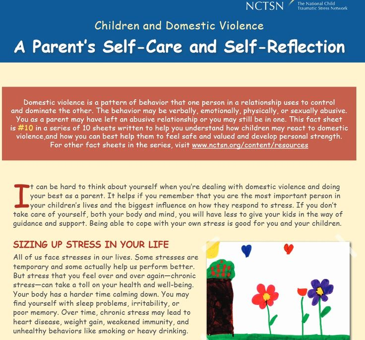 Children and Domestic Violence: A Parent's Self-Care and Self-Reflection  (2013