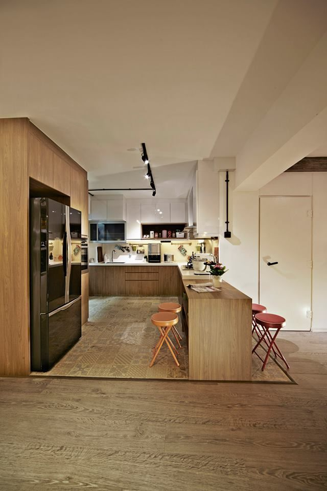 Image result for open concept kitchen hdb